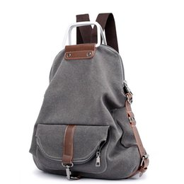 Vintage Portable Canvas Backpack Women 2019 Large Capacity Laptop Bagpack Travel  High School College Backpacks Sling Bag Female 1262d142f7ca1