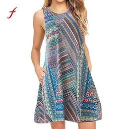 135f1069222371 Frauen sommer baggy elbise robe femme casual ärmelloses floral bedrucktes  mädchen swing dress sommerkleid mit tasche