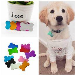 ossa del telefono Sconti Dog Tag Doppi lati Etichetta per cani a forma di osso Tag personalizzati personalizzati per cani Segno contrassegnato Pet ID Tag Nome Numero di telefono Scheda CLS535