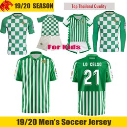 f3522bb0fdd 19 20 Real Betis Soccer Jersey LO CELSO 2019 2020 LOREN CANALES Football  Shirt Betis Recycled Match Jersey JESE JOAQUIN Betis Kids Jersey
