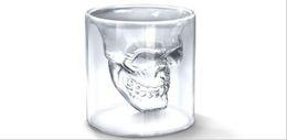 2019 tasses d'halloween Coupe de vin crâne Verre Verre Verre Bière Whisky Halloween Décoration Creative Party Transparent Drinkware Verres À boire 25ML Tasses LXL76 tasses d'halloween pas cher