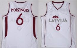 nouvelle chemise classique homme Promotion College Europa Nouveau 6 Latvija Team Kristaps Porzingis Maillot Basketball Maillot Homme rétro Blanc Vintage Surpiqué Shirt Classic Européen 19