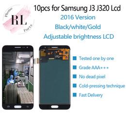 2019 мобильный телефон с лезвиями 10 ШТ. Регулируемая яркость ЖК-Дисплей Для Samsung Galaxy J3 2016 J320 J320F J320M ЖК-Дисплей Сенсорный Экран Digitizer Ассамблеи Замена