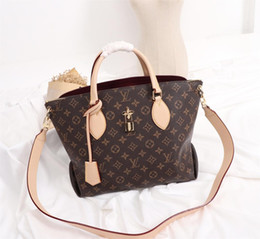 2019 maquiagem fúcsia Bolsas de grife bolsas de Couro Genuíno das mulheres L flor designer de luxo sacos compostos senhora embreagem ombro bolsa feminina bolsa