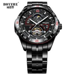 Бойже мужские автоматические часы механические наручные часы ручной свет водонепроницаемые часы из нержавеющей стали браслет от Поставщики часы ручной воды
