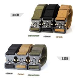 Argentina Cinturones tácticos Cinturón de cintura de nylon con hebilla de metal de entrenamiento resistente ajustable Cinturón de cintura Accesorios de caza Suministro