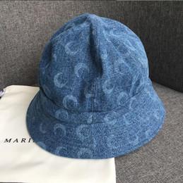 2019 chapéu de jornal amarelo Serre marinho 19SS Holiday Essential Cowboy Lua Impresso Cap Pescador para Homens e Mulheres