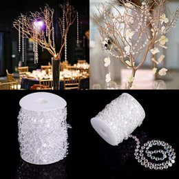 türvorhang kristalle Rabatt Vorhang Partition Vorhang Acryl Faux Kristall Perlen Tür String Hochzeit Dcor