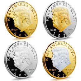 Pièce commémorative commémorative de 2020 pièces de monnaies commémoratives américaines 45ème Collection de badges en métal argenté Donald Gold ? partir de fabricateur