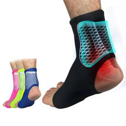 Calcetines de tobillo de apoyo online-Manga de tobillo deportivo compresión pie tobillo calcetines talón amortiguador calcetín deportivo baloncesto al aire libre fútbol escalada tobillo equipo de soporte ZZA857