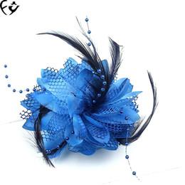 headpiece de noiva vermelho preto Desconto Europeu e Americano de noiva cocar de penas de férias hairpin dança Latina desempenho crianças hairdress 19030804