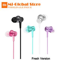 Mi auricular original online-Original Mi Xiaomi Piston 3 Versión Juvenil Fresca Auricular In-Ear 3.5mm Auricular colorido con auriculares de micrófono