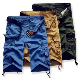 Nouvelle conception de pantalon cargo en Ligne-2019 New Cargo Shorts Hommes Haute Conception Camouflage Shorts Militaire Homme Été Outwear Hip Hop Pantalon Casual Hommes Shorts