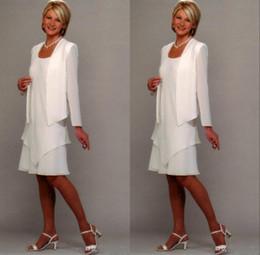 слойная куртка Скидка 2 слоя шифоновое платье для матери с длинным рукавом до колен платье для матери невесты