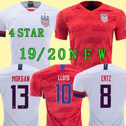 Camisetas de futebol dos eua on-line-Taça de ouro 2019 América Casa longe EUA Camisa De Futebol 2019 copa américa Estados Unidos Camisa de Futebol EUA homens Futebol CAMISA Uniforme