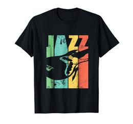 Cadeaux guitare électrique en Ligne-Vintage Jazz Guitar T-Shirt cadeau de guitare électrique pour les hommes 100% coton vente d'été des hommes 100% coton T Shirt Funny Tee Shirts