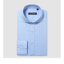 abiti romantici di cotone Sconti Camicia elegante da uomo in cotone tinta unita di alta qualità per uomo, 100% cotone