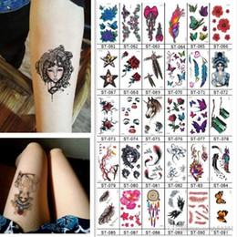Tatuagem temporária impermeável para pássaros on-line-10 PCS Etiqueta Do Tatuagem Temporária Das Mulheres Dos Homens Linda Borboleta Pássaro Flor Letras Do Corpo Da Arte À Prova D 'Água Tatuagens Falsas