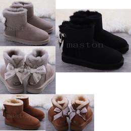 illuminare gli stilettos Sconti 2019 inverno neve Boots Australia WGG Uggsugglisugg0 bailey arco stivali australiani donne Botas australianas pelliccia boot3063 #
