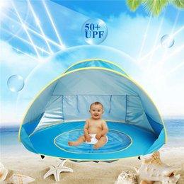 tende da gioco indoor per bambini Sconti Baby Beach Tenda blu rosa arancione 3 colori Portable Shade Pool Outdoor Protezione solare Pool Sun Shelter for Infant