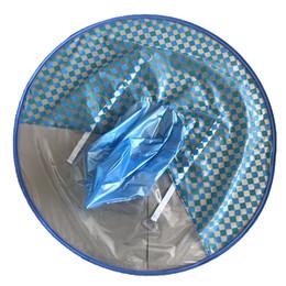 2019 cheques de peixe À prova de vento Bonito Crianças Capa De Chuva Capa de Chuva Padrão de Verificação À Prova de Chuva Dos Desenhos Animados Guarda-chuva De Pesca Dobrável Forma UFO Criança Poncho desconto cheques de peixe