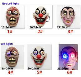 Led Işık Cadılar Bayramı Korku Palyaço Vampir Göz Maskesi Maske Cosplay Kostüm Tema Makyaj Performansı Masquerade Tam Yüz Parti Maskesi AN2586 supplier cosplay led eyes nereden cosplay led eyes tedarikçiler