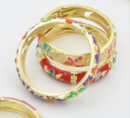 Ensanchado Cloisonne Arte pulsera ahuecada diamante de joyas de artesanía brazalete hecho a mano del estilo chino Nacional de accesorios de moda pulsera desde fabricantes