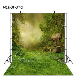 Spring Green Forest compleanno sfondo Photo Studio Ritratto del contesto Baby Shower Decorazione bambini Props nozze Indoor da