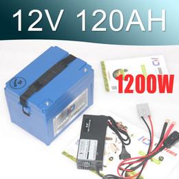 Большие аккумуляторы онлайн-12V литий-ионный аккумулятор 120AH большой емкости Супер 12v Lipo аккумулятор