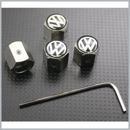 2019 sas de voiture La poussière de pneu de valve de pneu de pneu de roue de Volkswagen couvre des chapeaux anti-vol bloquant VW plus de 300 logo de voiture différents disponibles sas de voiture pas cher