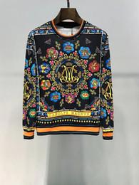 hoodies de plumes Promotion Mall gros-3D Automne Paris Top Design Les plumes colorées Feuilles Golden Chains Pulls Sweatshirt Pattern Slim Medusa cool Hommes