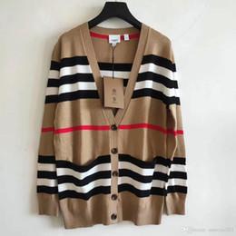 2019 pull en crochet lâche été Milan piste Pull 2019 col en V à manches longues haut de gamme Cardigan jacquard femmes Designer Pull 092008