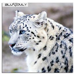 pittura diamante blu Sconti Blue July Leopard Diamond ricamo Animal Mosaic Diamond Painting Plastic Resin Picture By Numbers Regali di Capodanno in stile moderno