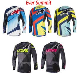 Jerseys de ciclo de verão on-line-Roupas de ciclismo jersey Estrela do sexo masculino de verão ao ar livre equitação cavaleiro off-road de corrida de moto controle de velocidade de manga longa T-shirt lapela POLO camisa