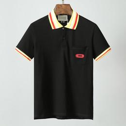 francês roupas homens Desconto High Street Polo Cavalo Camisa da forma T-shirt 2020 Stripe Polo Cobra Polos Bee Bordado de Homens