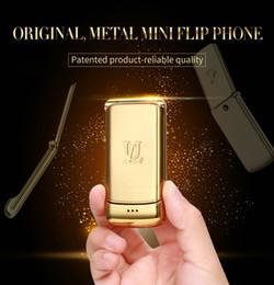 """Móvel de banda quádrupla desbloqueado on-line-Desbloqueado V9 Mini Flip Mobile Phone 1.54 """"Pequeno Recurso Telefone Sem Fio Bluetooth Dialer FM MP3 Caixa De Metal Móvel Celular GSM Quad 4-bandas"""