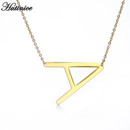 Jóias letras v encantos on-line-Design simples colar pendente 26 cartas por Mulheres jóias charme A B C D E F G H I J K L M N O P Q R S T U V W X Y Z