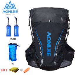 water packs for hiking Coupons - AONIJIE 18L Women Men Marathon Hydration Vest Pack For 2L Water Bag Cycling Hiking Bag Outdoor Sport Running Backpack Rucksack