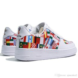 01ad727caf37b 2019 World Cup Flag Colorful ONE Skateboard Casual F Shoes Of Men Women  Classic 1 Sneakers Outdoor Sportswear EU36-45