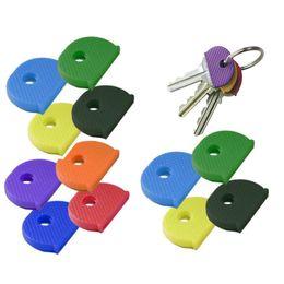 Id cap on-line-24 PCS Assorted Color Key Top Cap Capa Topper Keyring ID Marker Tags Chaveiro Acessórios