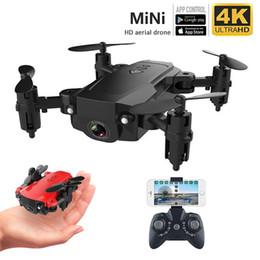 2019 rc nano quadcopter mini drone 4K HD zangão aérea dobrar quatro eixos aeronaves resistência a longo mini-portátil aéreo controle remoto da câmera HD 4k câmera 1080p selfie