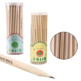 caixas de lápis coloridas por atacado Desconto 50 pçs / set Mini Madeira HB Lápis Curto Eco Lápis de Grafite Mecânica para Crianças Escritório Escola Papelaria Suprimentos 17.5 cm s