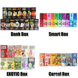 Голограмма Dank Vapes Картриджи Зерновые Экзотические умные тележки Розничная упаковка Упаковочная коробка 70 ароматов для 1,0 мл толстого масляного бака умные капсулы от