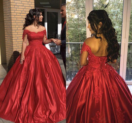 2019 festa vintage Vestidos cortos de fiesta Vermelho Vestidos de Baile Vestidos de baile quinceanera vestidos de Cetim Longo Noite Vestidos Formais vestidos de noche festa vintage barato