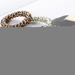 2020 a1 spulen Telefon-Draht-Schnur Gum Coil-Haar-Riegel-Mädchen-elastische Haar-Band-Ring-Seil-Leopard-Druck-Armband Stretchy Haar Ropes MMA2816-A1 rabatt a1 spulen