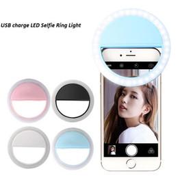 Güzellik Özçekim Aydınlatma Halka Tutucu Klip Dolgu Işık Telefon Dağı Flaş Light Up Selfie Lamba Ambalaj Kutuları ile Şarj Edilebilir cheap phones flashing box nereden telefonlar yanıp sönen kutu tedarikçiler