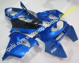 2021 1998 kawasaki zx9r carenagens 98 99 ZX-9R Moto Aftermarket Kit Fairings para Kawasaki ZX9R 1998 1999 ZX 9R Blue Black Motorcycle Bodyclework Completar 1998 kawasaki zx9r carenagens barato
