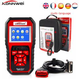 pode barramento bluetooth Desconto Konnwei ScanTool KW850 OBD2 Ferramenta de Diagnóstico Do Carro OBD Auto Diagnostic Code Reader