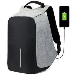 ipad rucksäcke Rabatt 15,6-Zoll-Laptop-Rucksack USB Anti-Diebstahl-Rucksack Männer Spielraum-Rucksack-wasserdichte Schultasche Male Mochila Lade