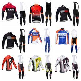 orbea long jersey bib Rabatt ORBEA RABOBANK SCOTT team Herren Fahrradbekleidung Bike Jersey Set Langarm Radtrikot Gel Pad Bike Trägerhose Suit52318